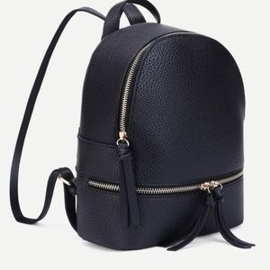 Handbags - mini faux leather backpack
